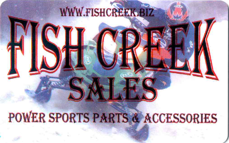Sponsor: Fish Creek Sales